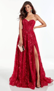 Gown With a Front Slit